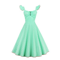 Fashion Women Summer Dress Retro 1950s 60s Vintage Dresses Vestidos Audrey Hepburn Plus Size Rockabilly Sexy