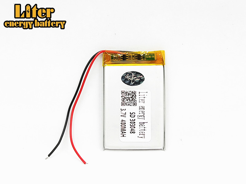 303048 <font><b>3.7V</b></font> <font><b>400mAH</b></font> 303050 PLIB polymer lithium ion / Li-ion Rechargeable battery for GPS mp3 mp4 mp5 dvd Remote Control E-book image