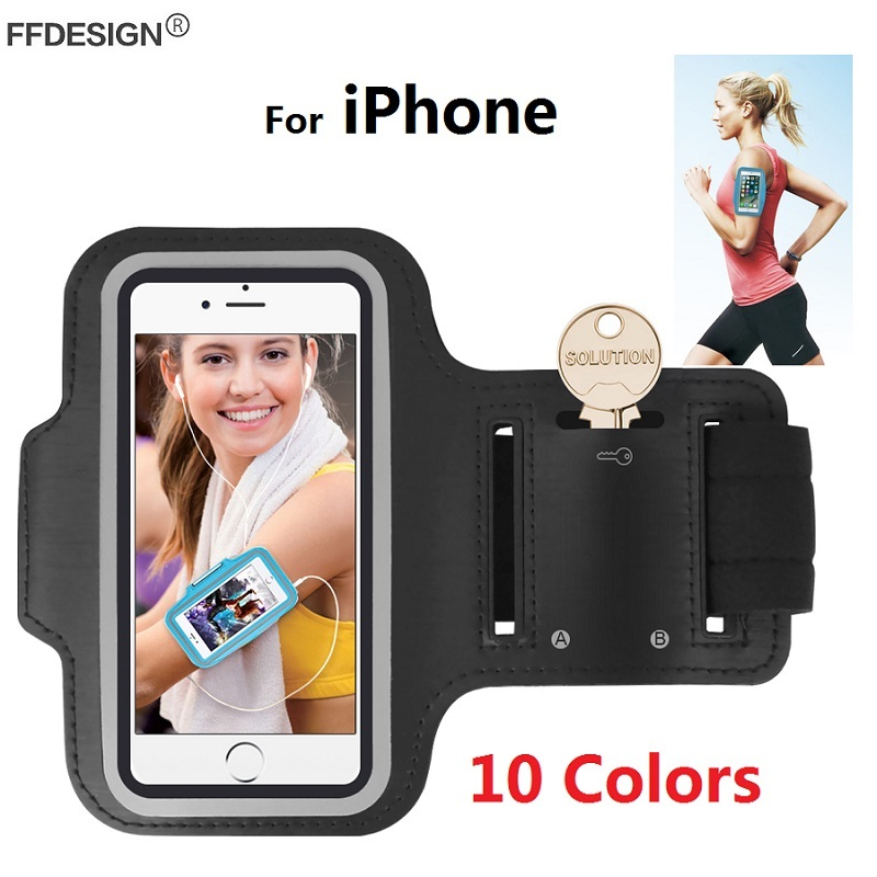 Popular Brand Gym Sports Running Armband For Iphone X Xs 5 Se 6 6s 7 8 Plus Mobile Phone Arm Bag Pouch Belt Wristband For Smartphone Below 6 Mobile Phone Accessories
