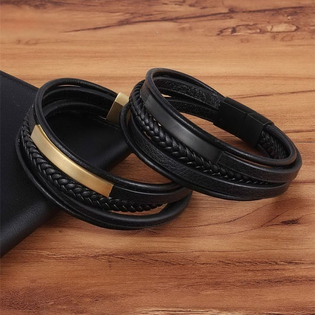 Men's Handmade Charm Leather Bracelets