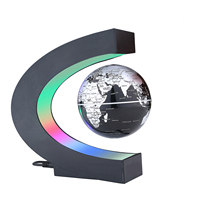 USB illuminating school teaching supplies suspension anti gravity earth magnetic levitation globe home desk decoration