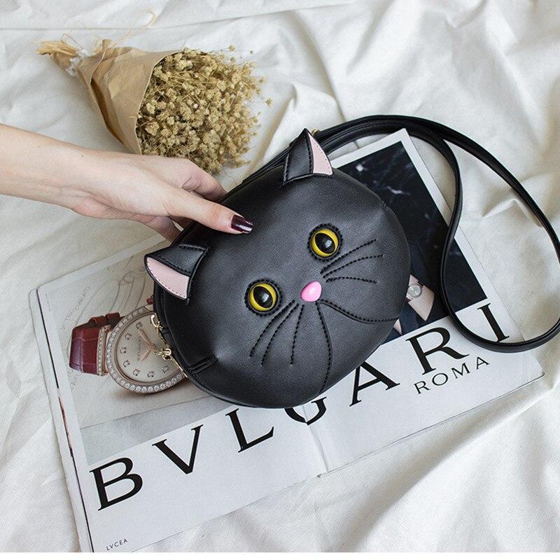 2018 New Real Luxury Handbags Bags Designer Bolsos Mujer Bolsas Feminina Personality Shoulder Bag For Cat Messenger Cute Casual цена