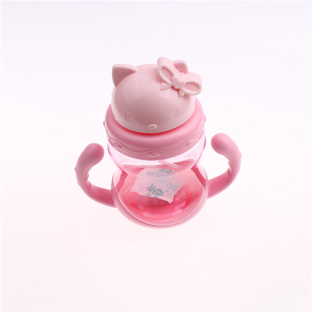 Super Cute Straw Sippy Cup with Handles