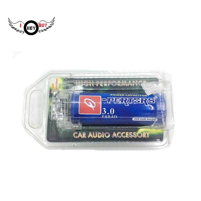 I Key Buy Car Power 30 Farad Capacitor LED Voltage Display Audio Amplifier Hybrid Digital Capacitors