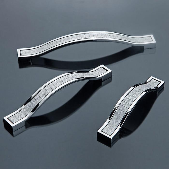160mm Modern Crystal Cabinet Handles Drawer Pull Wardrobe door ...