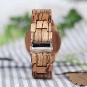 Image 5 - Bobo Vogel Heren Horloges Uurwerken Top Merk Luxe Horloge Alle Zebra Hout Quartz Horloges Voor Mannelijke Als Geschenk V M30