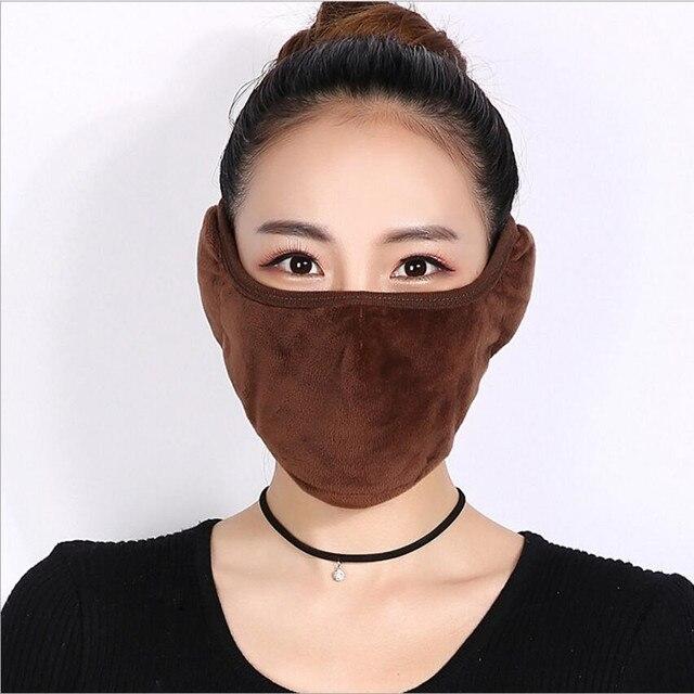 Crystal velvet men women Ear protective mouth mask Windproof earmuff anti dust winter masks Breathable Anti Haze Flu Face masks 2