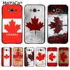 MaiYaCa Canada flag maple leafs Flag Coque Shell Phone Case for Samsung J1 J3 J5 J7 Note 3 Note 4 Note 5