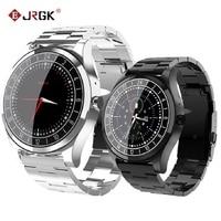 JRGK Newest DT19 Bluetooth Smart Watch Men Metal Wristwatch Dial Call Heart Rate Blood pressure sport Fitness tracker SmartWatch