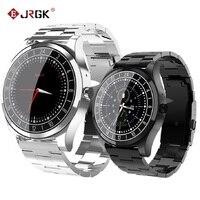 Tüketici Elektroniği'ten Akıllı Saatler'de JRGK Yeni DT19 Bluetooth akıllı saat Erkekler Metal Kol Saati Arama Çağrı Kalp Hızı Kan Basıncı spor fitness takip chazı SmartWatch