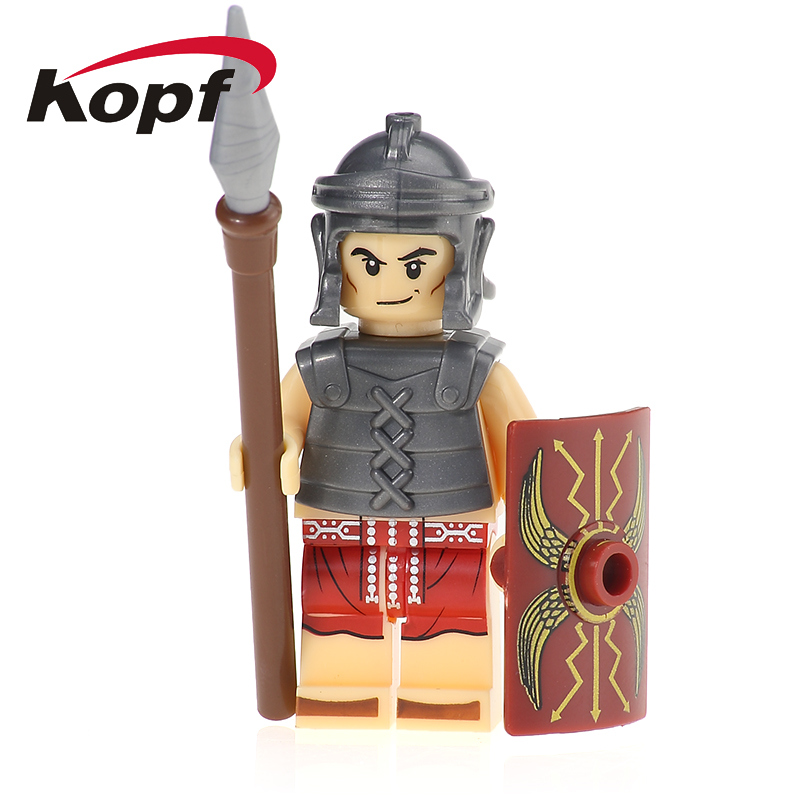 XH 648 Super Hero Building Blocks Medieval Knights Roman Soldiers Heavy Infantry Bricks Figures Model Toys Children Gifts X0164 american edison loft style rope retro