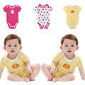 New SUMMER BABY BODYSUITS 100% Cotton Infant Baby Body Short Sleeve Cloth Similar Jumpsuit Printed Baby Boy Girl Bodysuits H1