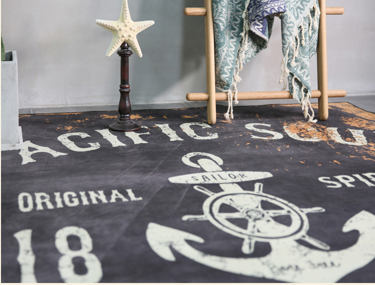 Tendance personnalité rétro tapis nordique style industriel tapis salon chambre étude chambre chevet décor haute qualité tapis - 2