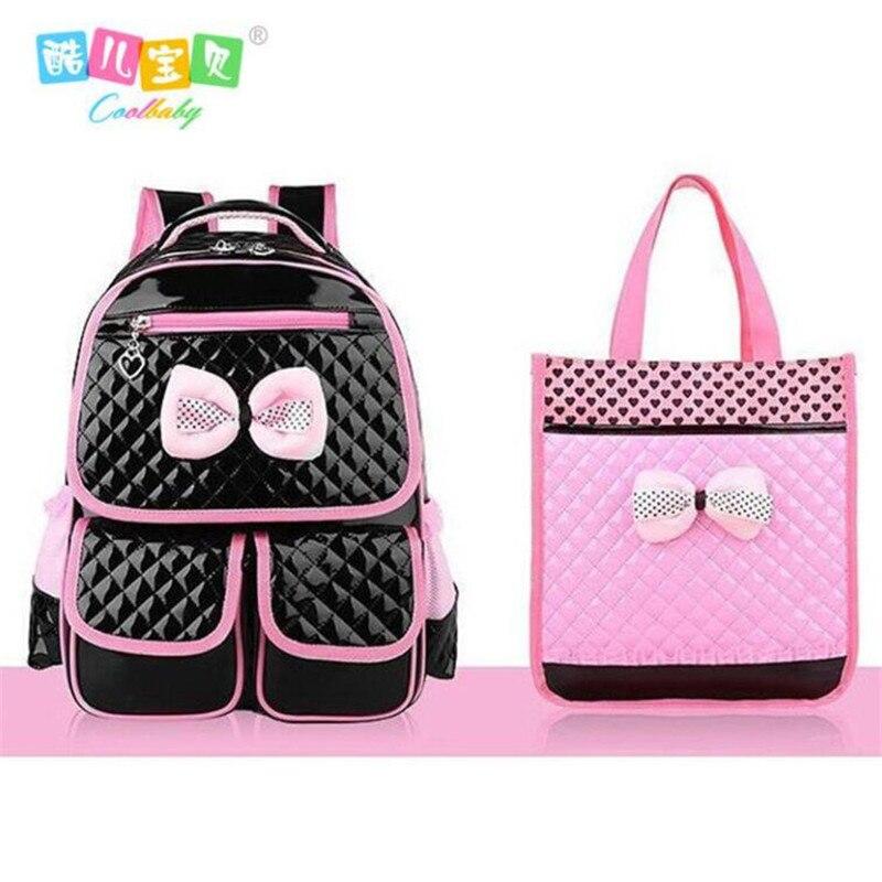 sells preview of new york US $20.39 40% OFF|COOL BABY New Cute Children Backpack Grade 1 6 Girls  School Bags PU Orthopedic Schoolbag Waterproof Student School Pink-in  Backpacks ...
