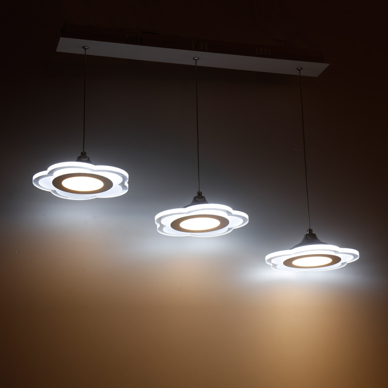 купить Flower LED pendant lamps circular lighting acrylic restaurant lights modern simple chandelier creative restaurant lights онлайн