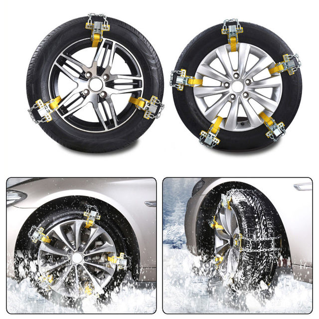Liplasting Manganese Steel Snow Chain Car Anti-skid Chain Emergency Belt Mud Sand