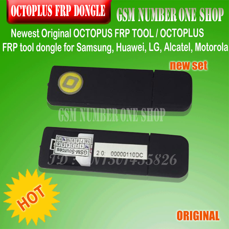 2020 ORIGINAL NEW OCTOPLUS FRP TOOL Dongle For Samsung, Huawei, LG, Alcatel, Motorola Cell Phones