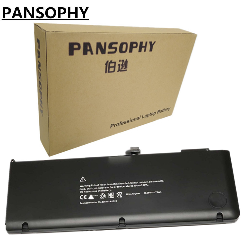 PANSOPHY 10.95V 73wh Laptop Battery A1321 A1286 For MacBook Pro 15