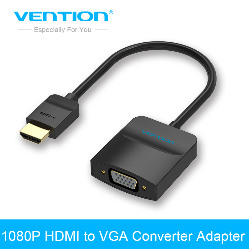 Vention 1080P HDMI to VGA Adapter Digital to Analog Video Audio Converter Cable for XBOX PS3 PS4 HDTV PC Laptop  voxlink v1 4 1080p hdmi to vga audio video scaler converter box with audio support 4k 2k hdcp for hdtv pc laptop ps