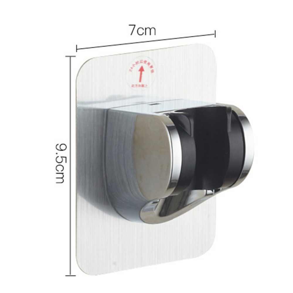 アルミシャワーブラケットシャワーヘッドハンドセットホルダークロム浴室の壁マウント調整可能なブラケットシャワーアクセサリーフック