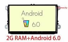Android 6.0 Dvd-плеер Автомобиля Радио Gps Стерео для VW Volkswagen SKODA GOLF 5 Golf 6 ПОЛО PASSAT B7 CC JETTA TIGUAN TOURAN T5 2 din