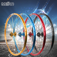 цена на MEIJUN mountain bike brake wheel 26 inch 32 hole before and after the bicycle wheel Aluminum Alloy bicycle wheels DIY color
