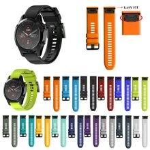 Pulseira de relógio de silicone, 26 22mm, fácil de substituir, para garmin, fenix, 5x, 5, 5x, plus, 3 pulseira forerunner 945 3hr s60