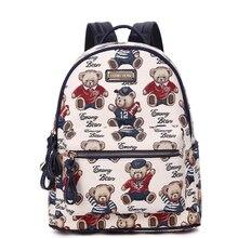 Для женщин рюкзак Лидер продаж Мода Повседневное мультфильм печати Рюкзаки холст рюкзак для подростков Обувь для девочек Mochilas mujerbolas Sac