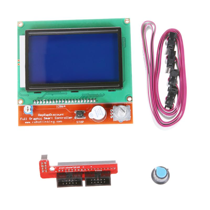 RAMPS 1.4 Controller Board with12864 LCD Control Panel for Arduino 3D Printer Smart Controller LCD Display