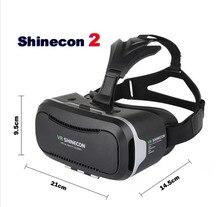 100% Оригинальные VR shinecon VR 1.0 2.0 3D виртуальной реальности-Brille Смартфон Гарнитура руля karton меха удобный pk z4