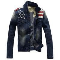 Jeans Jacket Men USA Design Fashion Denim Jacket Men S Stitching Washing Coat Chaqueta Hombre Mens