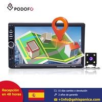 Podofo touch Car radio 2din 7'' Supports advanced audio distribution profile GPS BT/APE/WAV/WMA/MP3/FM ID3 Play