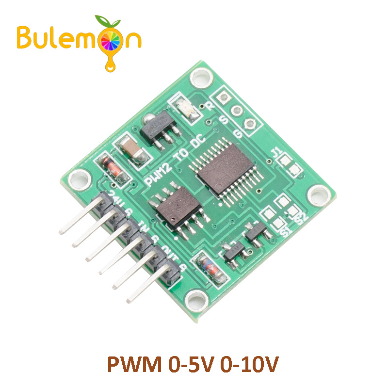 PWM to Voltage Module 0-5V 0-10V duty ratio linear conversion transmitter Internal chip pr