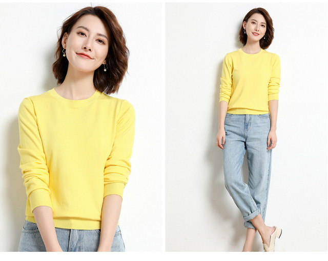 Yellow Cashmere Sweater For Women Sweaters Female Pink Wool Winter Woman Sweater Knitting Pullovers Knitted Sweaters Jumper 2019 22