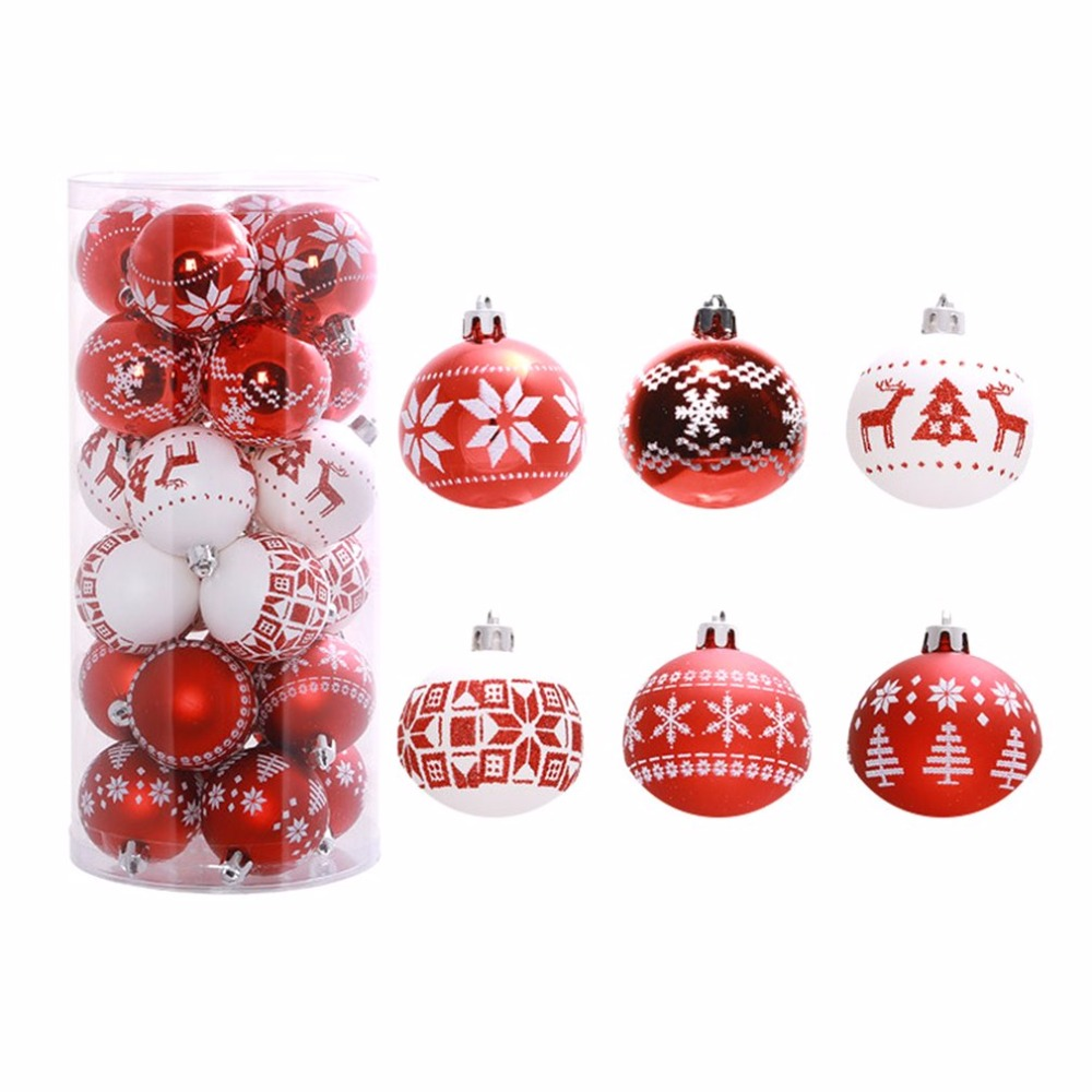 Christmas Decoration Wholesalers: 24PCS/Bucket 6cm Christmas Tree Ball Baubles Party Wedding