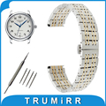 18mm 20mm 22mm Stainless Steel Watch Band for Longines L2 L3 L4 Master Flagship Conquest Butterfly Buckle Strap Wrist Bracelet
