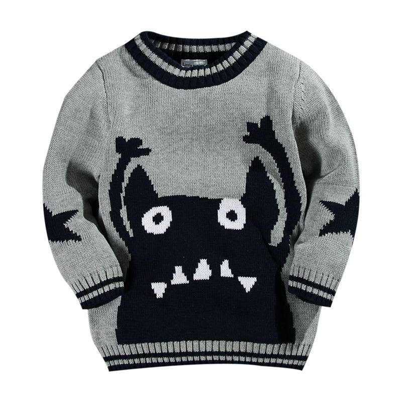 Boy sweaters 100% cotton cartoon character toddler boys sweater kids  cardigan pull enfant fille hiver