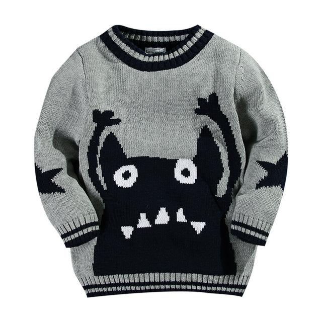 Blusas menino 100% algodão personagem de banda desenhada da criança meninos camisola crianças cardigan pull fille enfant hiver camisolas para bebê menino