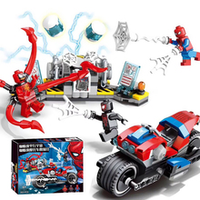 Marvel Avengers Super Heroes Figures Spiderman Series Sermoido Technic Building Blocks Bricks Educational Gift Toys For Children