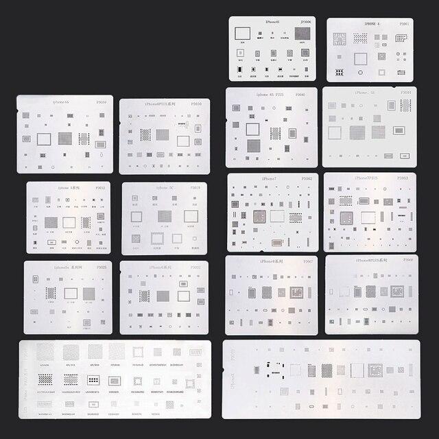 16 шт. IC BGA чип для ремонта набор трафаретов комплект Qualitied припоя шаблон для iPhone