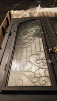 Custom Design Wrought Iron Doors 71 X96 Steel Iron Doors Glass Open Shipping To USA Home