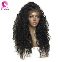 Eva Hair 250% Density 360 Lace Frontal Wig Pre Plucked With Baby Hair Brazilian Remy Hair Water Wave Lace Front Human Hair Wigs