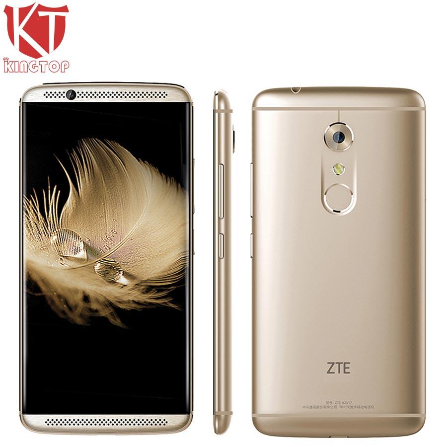 D'origine ZTE Axon 7 A2017 Mobile Téléphone Snapdragon 820 Quad Core 4 gb RAM 128 gb ROM 5.5 pouce 2560 * 1440px 20MP D'empreintes Digitales NFC OTG