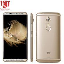 Orijinal ZTE Akson 7 A2017 Cep Telefonu Snapdragon 820 Quad Core 4 GB RAM 64 GB ROM 5.5 inç 2560 * 1440px 20MP Parmak Izi NFC OTG