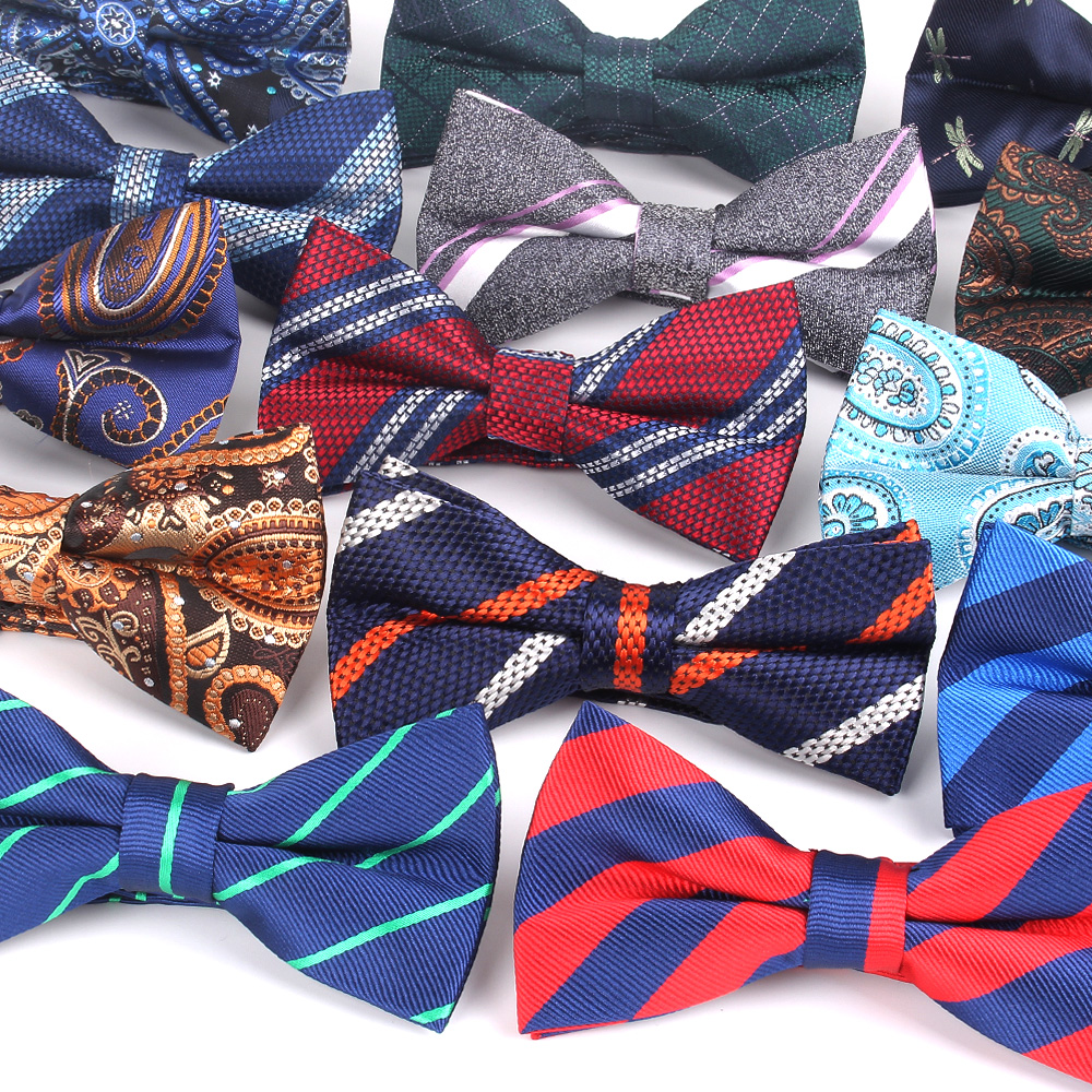 Fashion Striped Bow Tie For Men Women Classic Paisley Bowtie For Party Wedding Bowknot Adult Mens Bowties Cravats Adjustable Tie