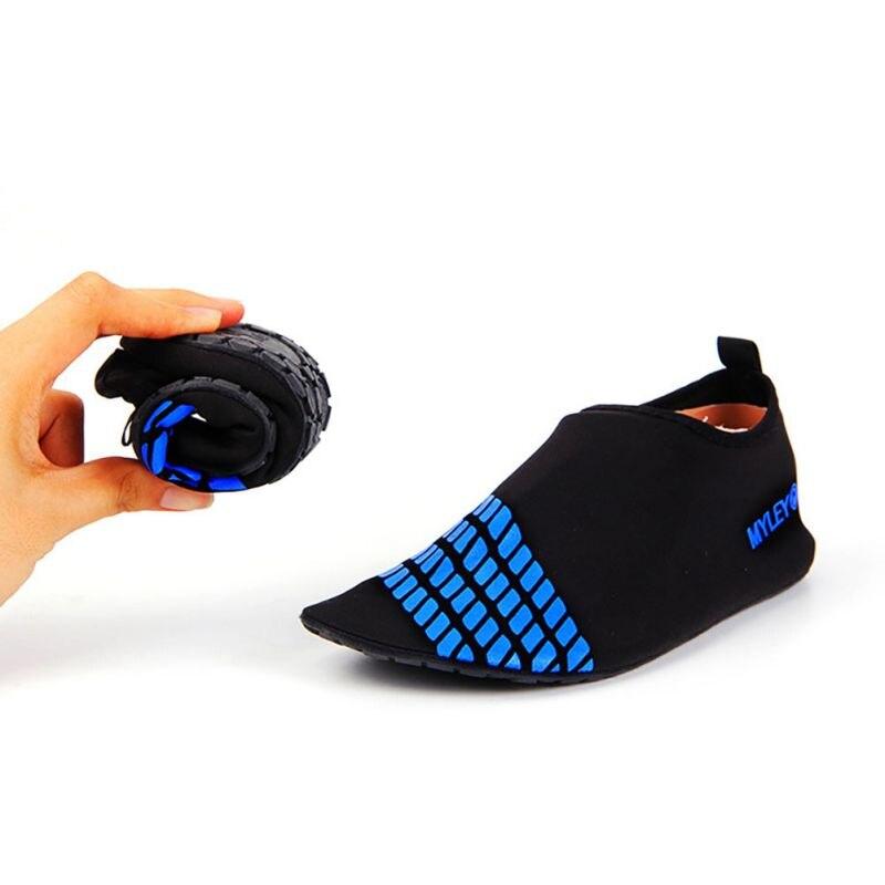 Alta rápido calcetín zapatos seco suave antideslizante snorkel zapatos de playa las aletas de natación snorkel buceo aletas buceo