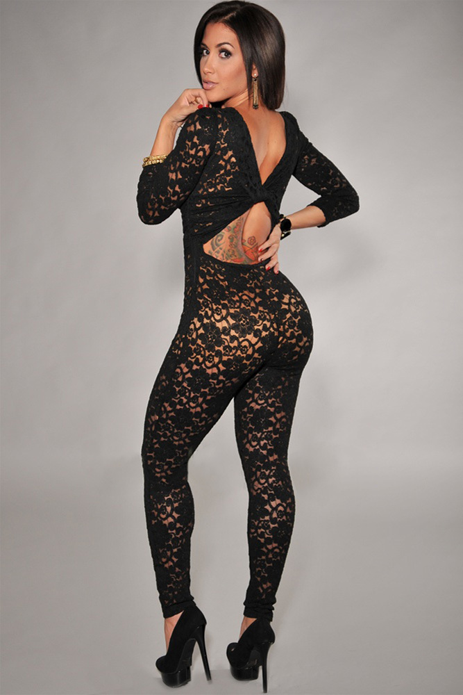 Black Women S Jumpsuit Photo Album - Reikian