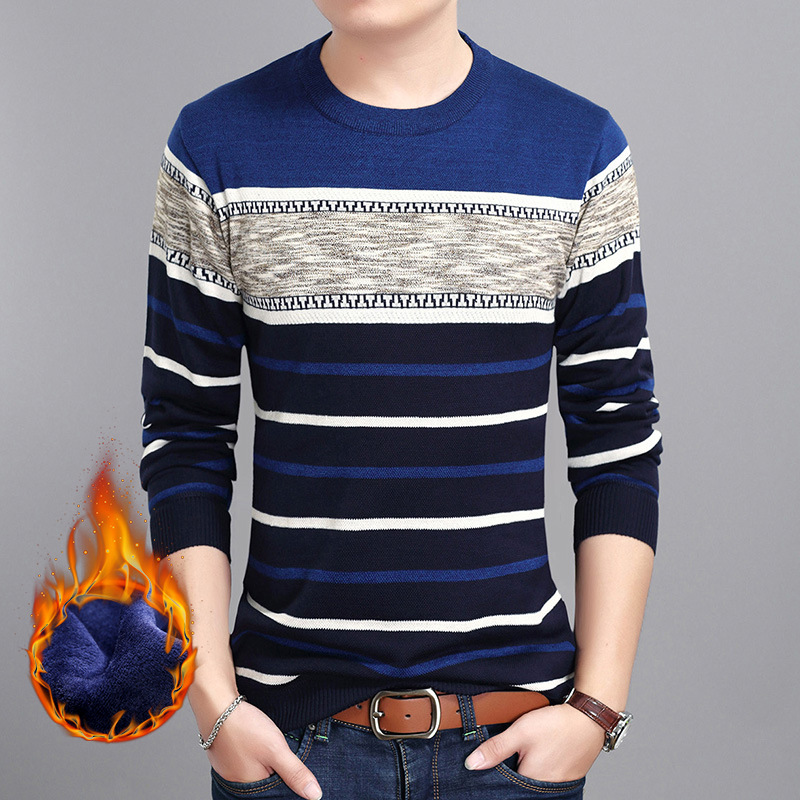 2018 Mens Sweaters Autumn Winter Jumper Cashmere Knitted Pullover Men Sweater O-neck Long Sleeve Warm Casual Sweater Men Clothes