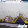 Frete Grátis Sea Engraçado Jogo de Corrida de pista de Obstáculos Infláveis Com Slide