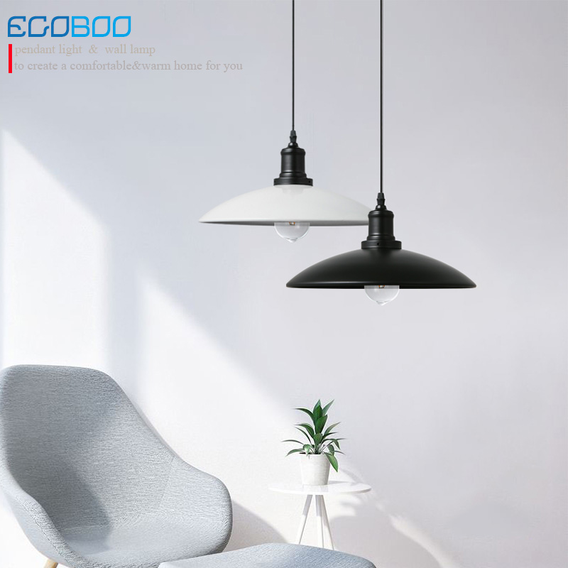 The Vintage Iron Chandelier Nordic creative bedroom dining room single head E27 pendant lamp